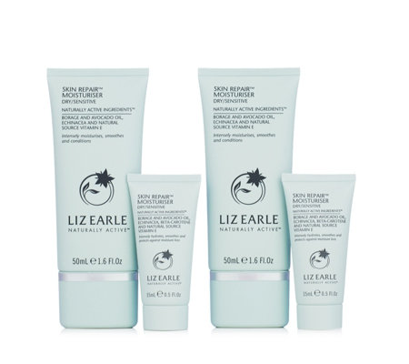 Liz Earle 4 Piece Skin Repair Home & Away Collection