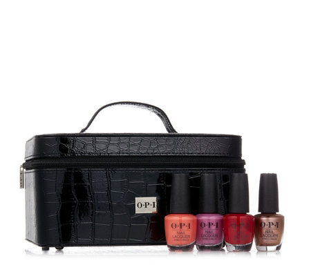 OPI Manicure Case With 4 Lacquers Collection