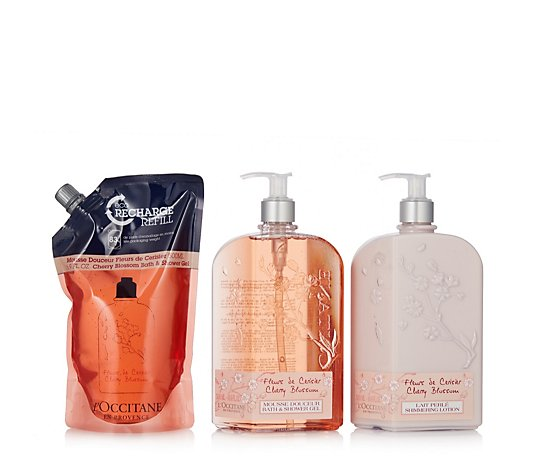 L'Occitane Supersize Cherry Blossom Trio 500ml