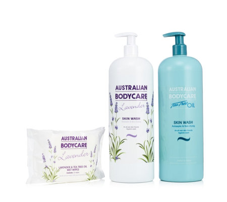 Australian Bodycare 3 Piece Supersize Skinwash & Wipes Collection
