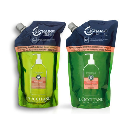 L'Occitane Supersize Intense Repair Shampoo & Conditioner Refills