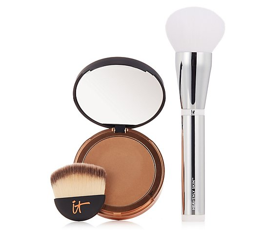 IT Cosmetics Bye Bye Pores Bronzer & Heavenly Luxe Wand Ball Brush