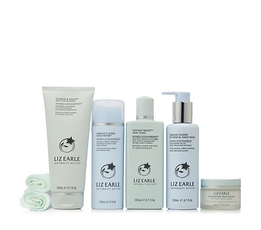 Liz Earle Healthy Beautiful Face & Hand 5 Piece Collection