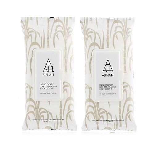 Alpha-H Liquid Gold Resurfacing Body Cloths Duo