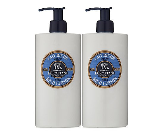 L'Occitane Supersize Shea Rich Body Lotion 500ml Duo