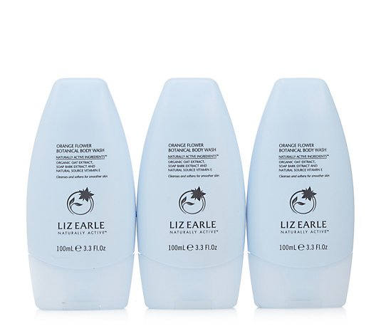 Liz Earle Orange Flower Body Wash 100ml Trio