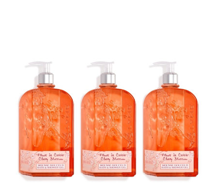 L'Occitane Supersize Cherry Shower Gel Trio