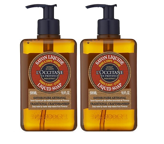 L'Occitane Shea Liquid Soap 500ml Duo