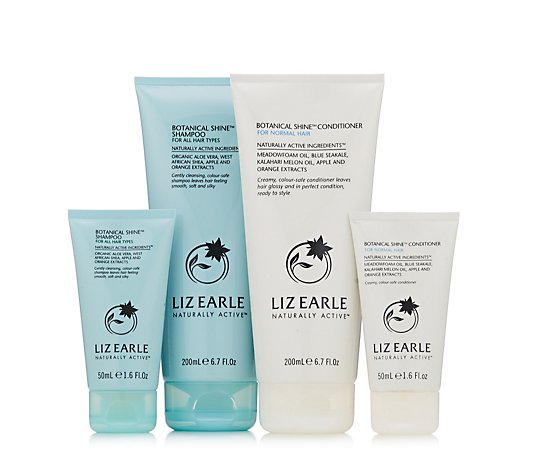 Liz Earle Home and Away Botanical Shine Haircare Collection