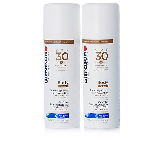 Ultrasun Sun Protection Tinted Body Cream SPF 30 150ml Duo
