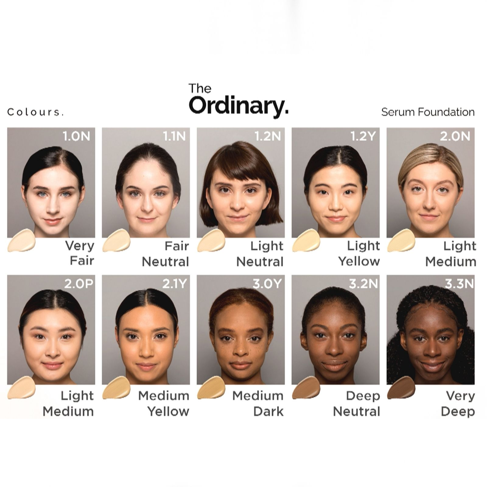 The Ordinary 4 Piece Foundation Collection Qvc Uk