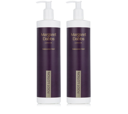 Margaret Dabbs London Supersize Hydrating Foot Lotion 600ml Duo