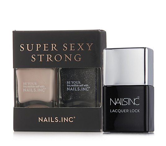 Nails Inc 3 Piece Super Sexy Strong Collection