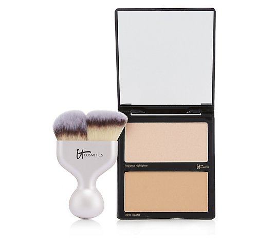 IT Cosmetics Limited Edition Hello Cheekbones Love Palette with Brush