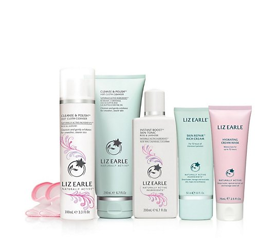 Liz Earle The Hydrate and Restore Botanical Skincare 5 Piece Collection