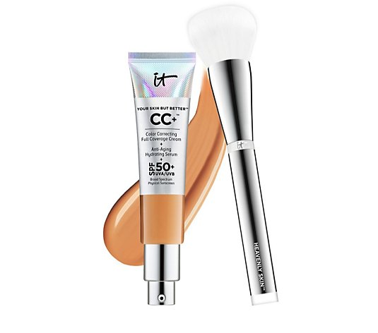 IT Cosmetics Full Coverage SPF 50 CC+ Cream & Heavenly Skin Brush