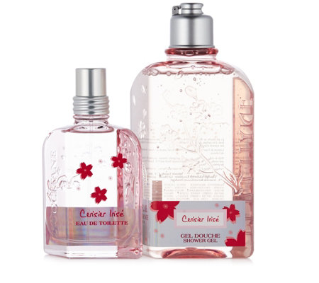 L'Occitane Cerisier Irise Shower & Fragrance Set