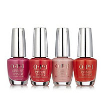 OPI 4 Piece Lisbon Infinite Shine Floral Fuchsia Collection - 235538
