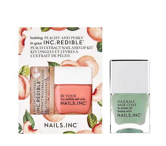 Nails Inc 3 Piece Peachy & Perky Collection