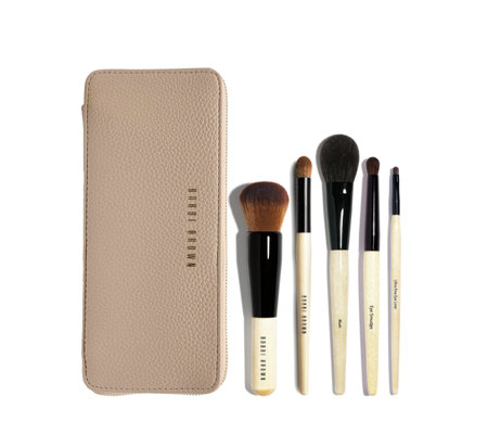 Bobbi Brown 5 Piece Pro Brush Collection & Clutch
