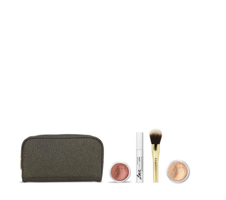 dad458e2c172 Bareminerals 4 Piece Radiant Make-Up Collection & Bag - QVC UK
