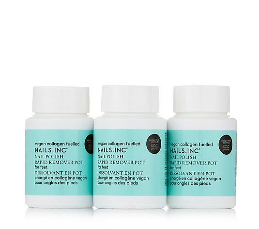 Nails Inc Peppermint Nail Polish Remover Pot Hand & Foot Trio