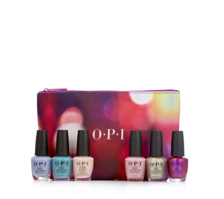 OPI 6 Piece Tokyo Blossom Collection With Bag