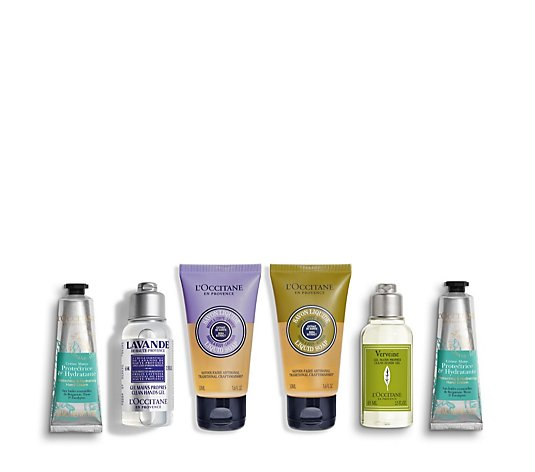 L'Occitane 6 Piece Protect On The Go Hand Care Collection
