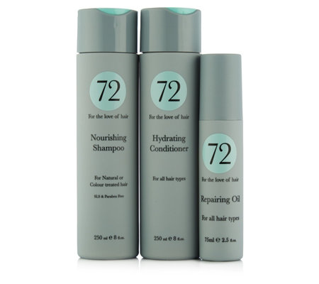 72 Hair 3 Piece Nourishing Collection
