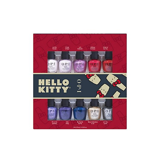 OPI Hello Kitty 10 Piece Mini Nail Lacquer Pack
