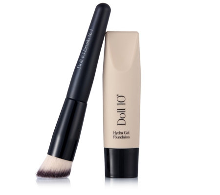 Doll 10 HydraGel Foundation & Brush