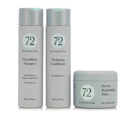 72 Hair 3 Piece Nourishing, Hydrating & Replenishing Kit