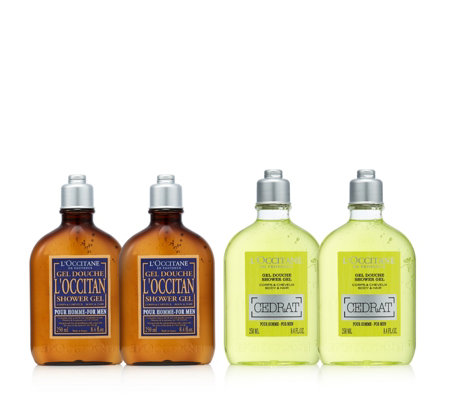 L'Occitane 4 Piece Men's Shower Gel Collection