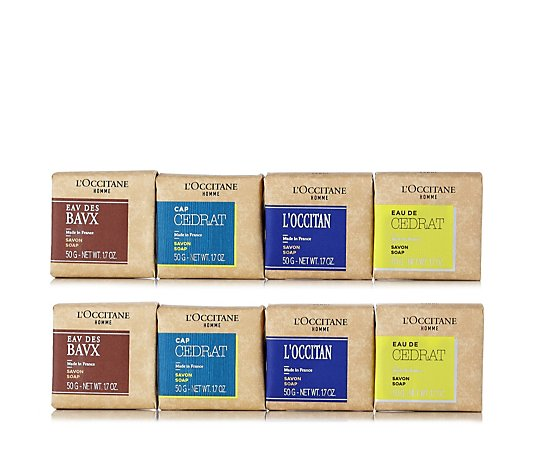L'Occitane 8 Piece Men's Luxury Soap Collection