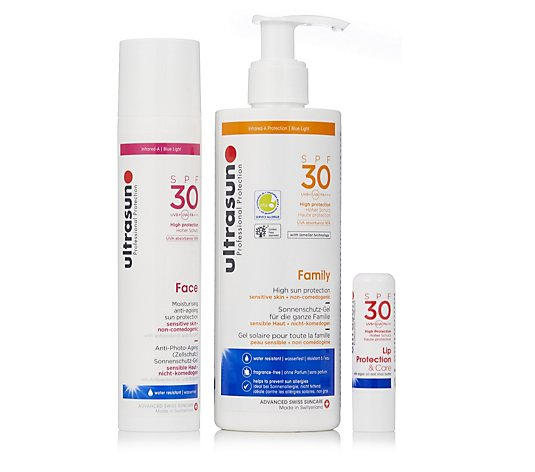 Ultrasun 3 Piece Summer Essentials Face and Body Collection