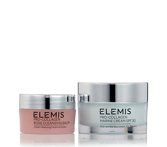 Elemis Pro-Collagen Day Cream 30ml & Rose Cleansing Balm 20g