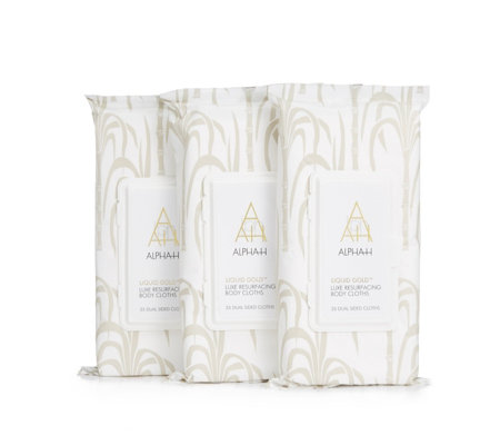 Alpha-H Liquid Gold Resurfacing Body Cloths Trio