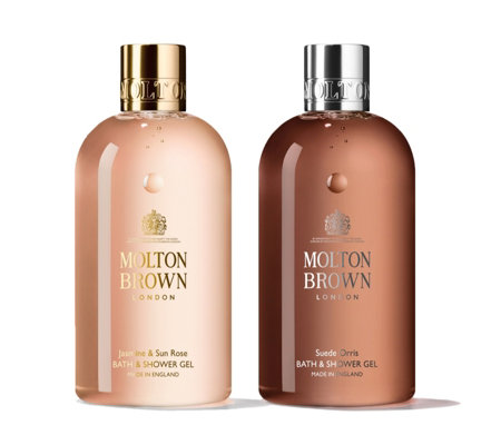 Molton Brown Jasmine & Suede Bath & Shower Gel Duo 300ml