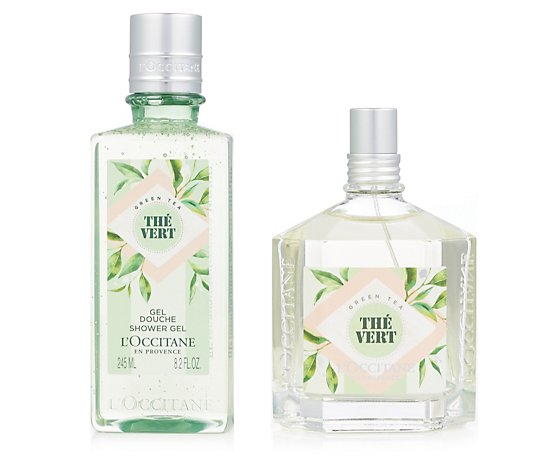 L'Occitane Green Tea 100ml EDT & Shower Gel 245ml