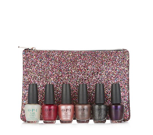 OPI 6 Piece Time to Shine Collection & Glitter Bag