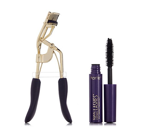 Tarte Picture Perfect Eyelash Curler & Deluxe Lights,Camera Lashes Mascara