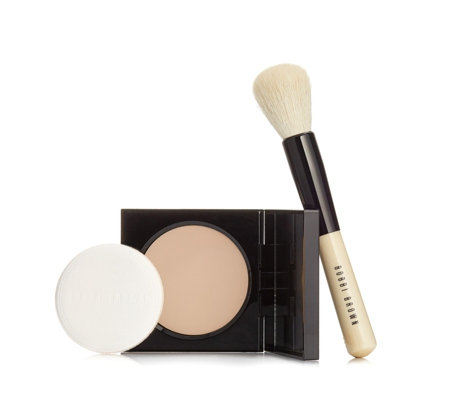 Bobbi Brown Sheer Pressed Powder & Face Blender Brush