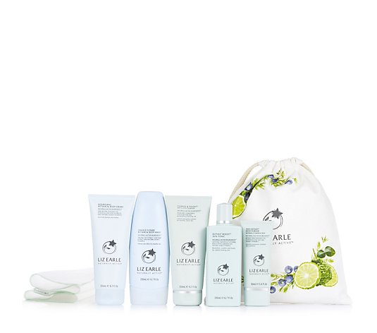 Liz Earle The Best In Botanical Beauty Face & Body 5 Piece Collection