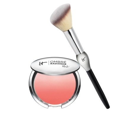 IT Cosmetics CC+ Radiance Ombre Blush with French Boutique Brush