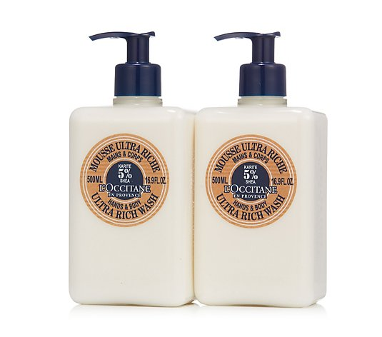 L'Occitane 2 Piece Shea Ultra Rich Hand and Body Wash