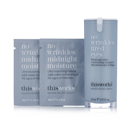 This Works No Wrinkles Tired Eyes 15ml & Midnight Moisture Sachets