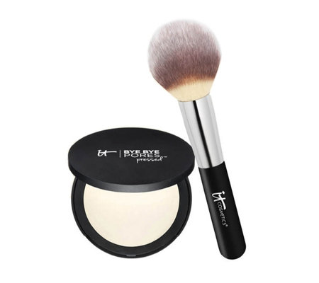 IT Cosmetics Bye Bye Pores Pressed w/ Heavenly Luxe Wand Ball Brush