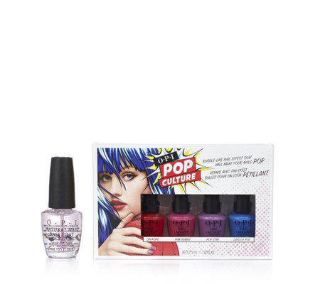 OPI 4 Piece Bubbles Mini Pack With Base Coat