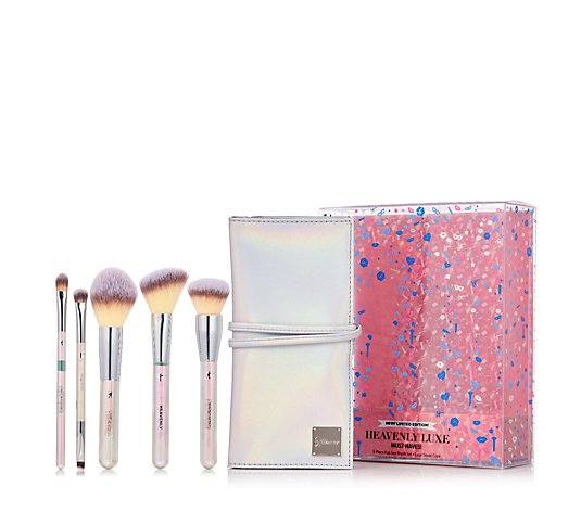 IT Cosmetics 5 Piece Heavenly Luxe Must-Haves Brush Set w/ Travel Case