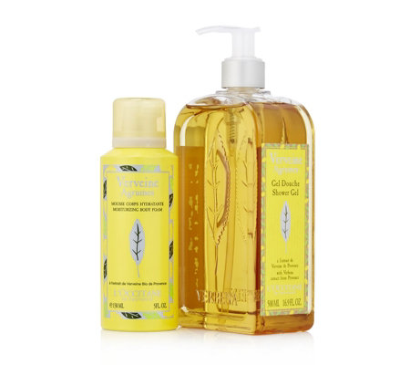 L'Occitane Citrus Verbena Shower Gel 500ml & Body Foam 150ml